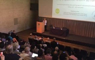 Prof Steph Allais delivers the keynote speech to open the JVET Conference